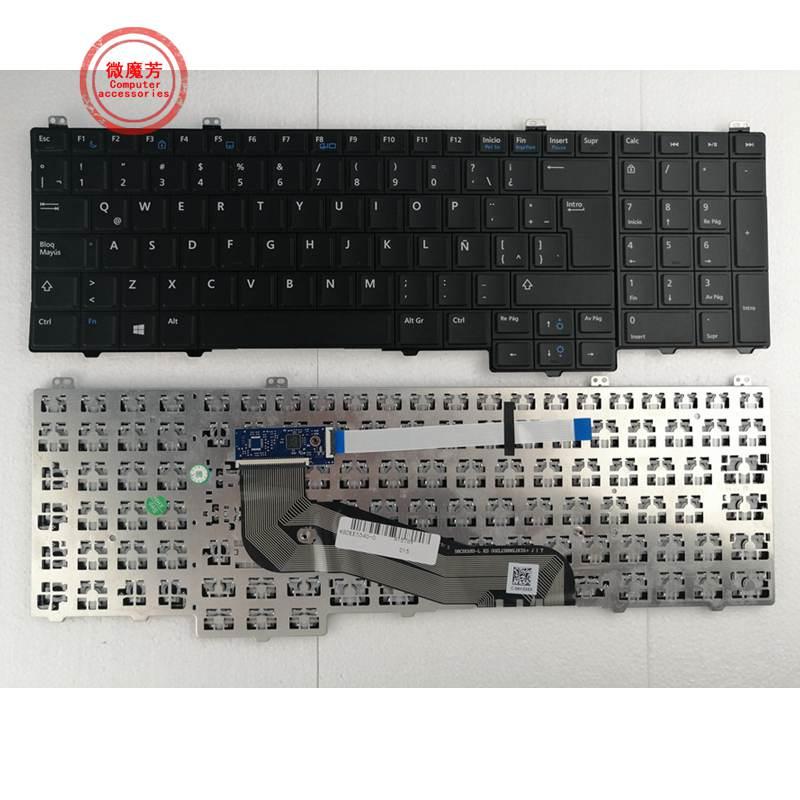 جديد لـ ديل لاتيتودي 15 5000 ، E5540 لوحة مفاتيح إسبانية Sp Teclado