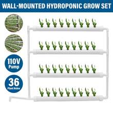110V 36 Gaten Hydrocultuur Pijp Site Groeien Kit Rack Grondloze Teelt Plant Zaailing Groeien Kwekerij Pot Pomp Hydrocultuur Systeem