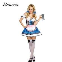 UTMEON Sexy allemand bavarois bière fille Oktoberfest Costume bière fille déguisement dhalloween pour les femmes