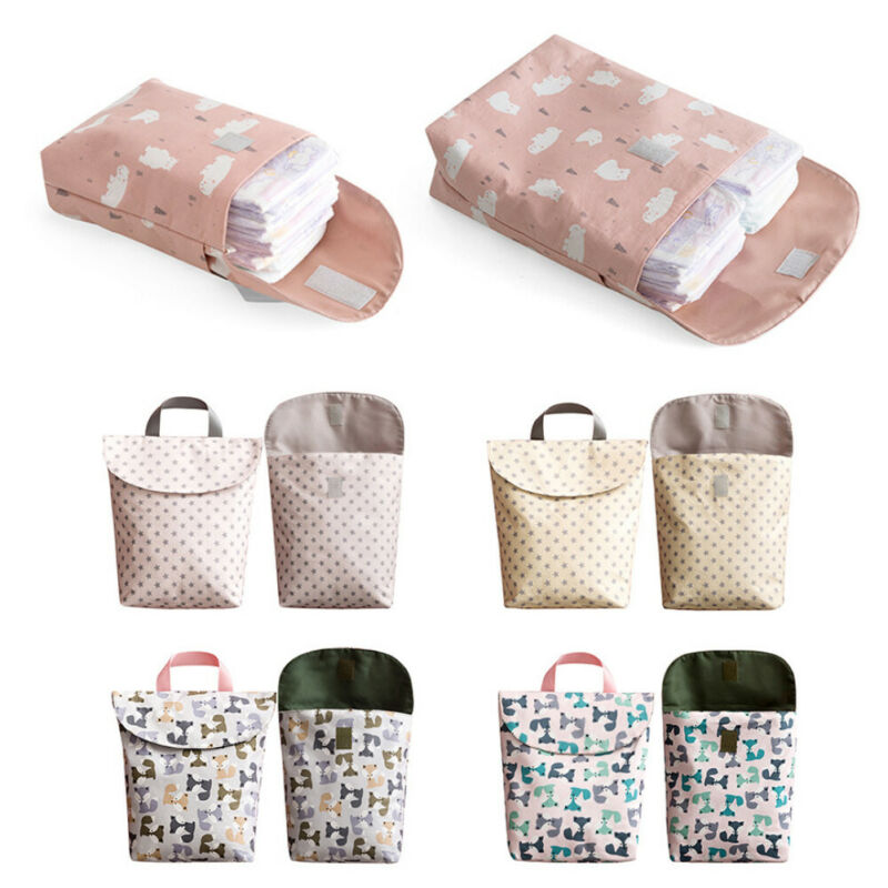 New Reusable Diapering Toilet Training Packages Baby Mini Waterproof Wet Dry Bag for Infant Cloth Diaper Newborn Nappy Pouch
