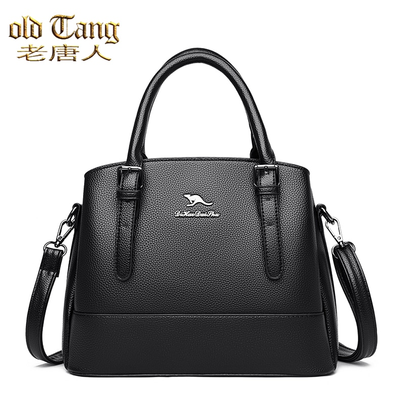 OLD TANG Fashion Solid Color Pu Leather Shoulder Bags for Women 2020 New Autumn and Winter Ladies Ha