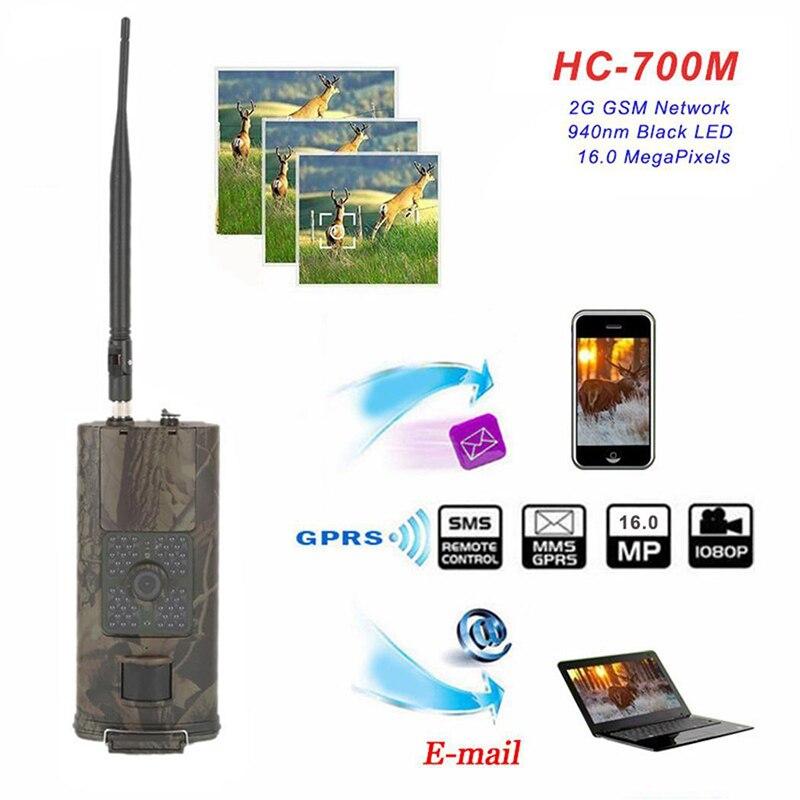 Get Cellular Hunting Camera 2G GSM MMS SMS SMTP Trail Camera Mobile 16MP Night Vision Wireless Wildlife Surveillance HC700M