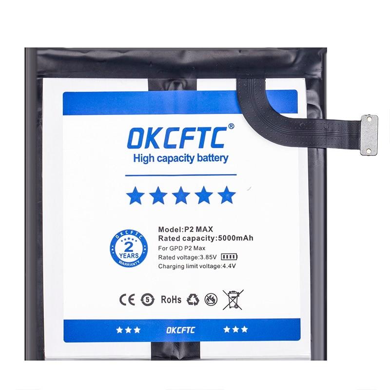 OKCFTC 5000mAh Battery For GPD P2 Max Handheld Gaming Laptop 654793-2S Tablet enlarge