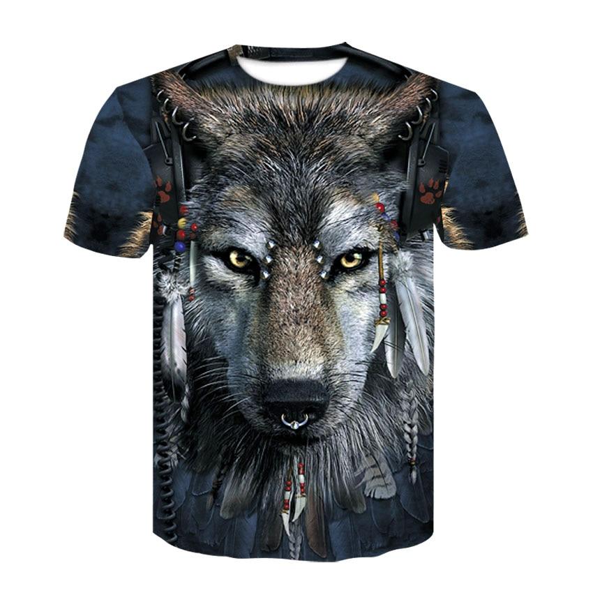 2021 Summer 3D Men's T-Shirt Fashion Wolf Shirt Animal Crossing New Horizons Top Street Sports Fitness Hip Hop POLO Shirt