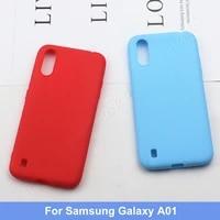 for samsung galaxy a01 silicone tpu soft phone matte back case cover coque funda for samsung galaxy a01