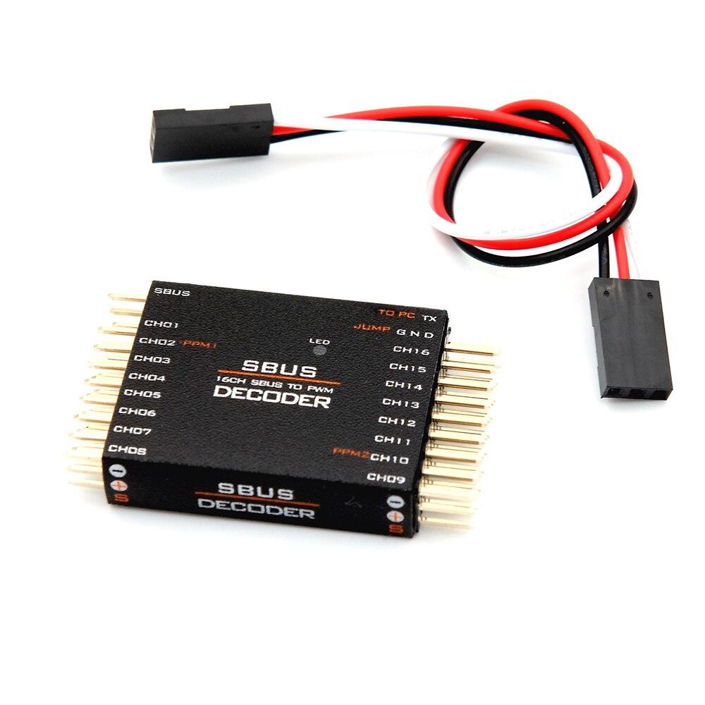 SBUS a PWM PPM decodificador 16CH para Futaba Frsky X8R RXSR