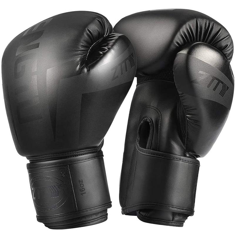 white 10oz boxing gloves mma kick boxing training muay thai men fitness gloves for adult kids free shipping ZTTY Kick Boxing Gloves for Men Women PU Karate Muay Thai Guantes De Boxeo Free Fight MMA Sanda Training Adults Kids Equipment