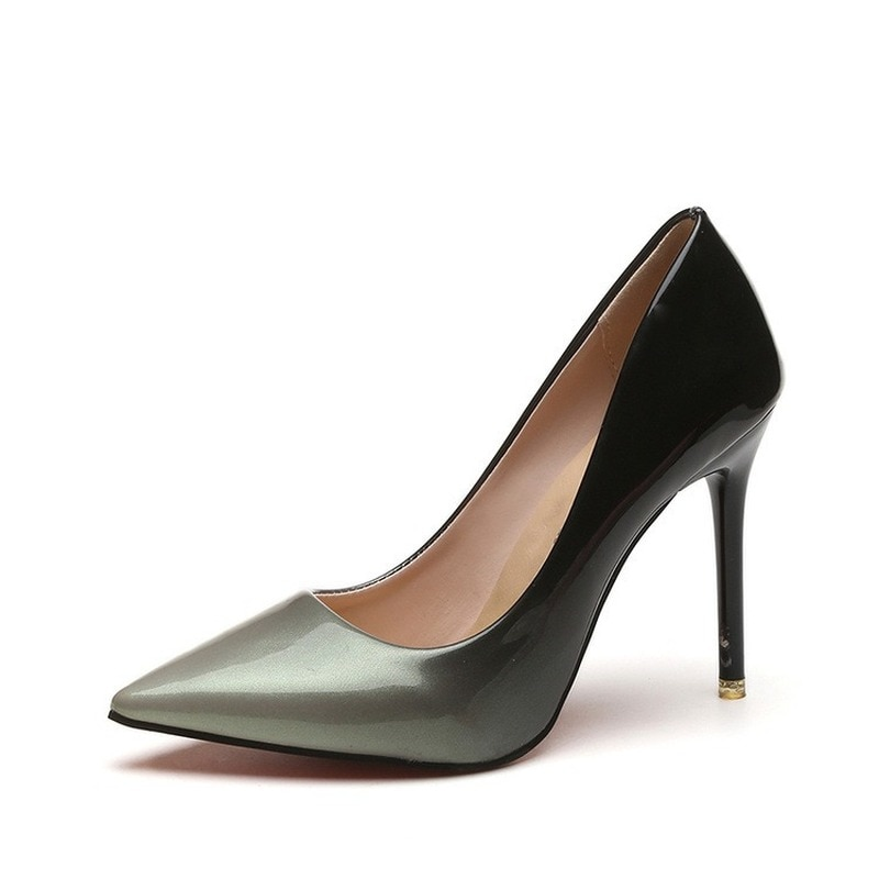 High Heels 2021 Pointed Super High Heels 10cm Stiletto Sexy Pumps Women's Singles Wedding Shoes Work Shoes