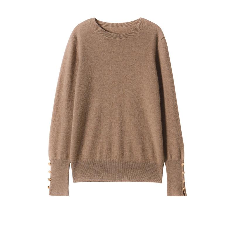 SuyaDream Women Sweaters 65%Cashmere 35%Wool O neckPullovers 2021 Fall Winter Warm Sweaters for Woman enlarge