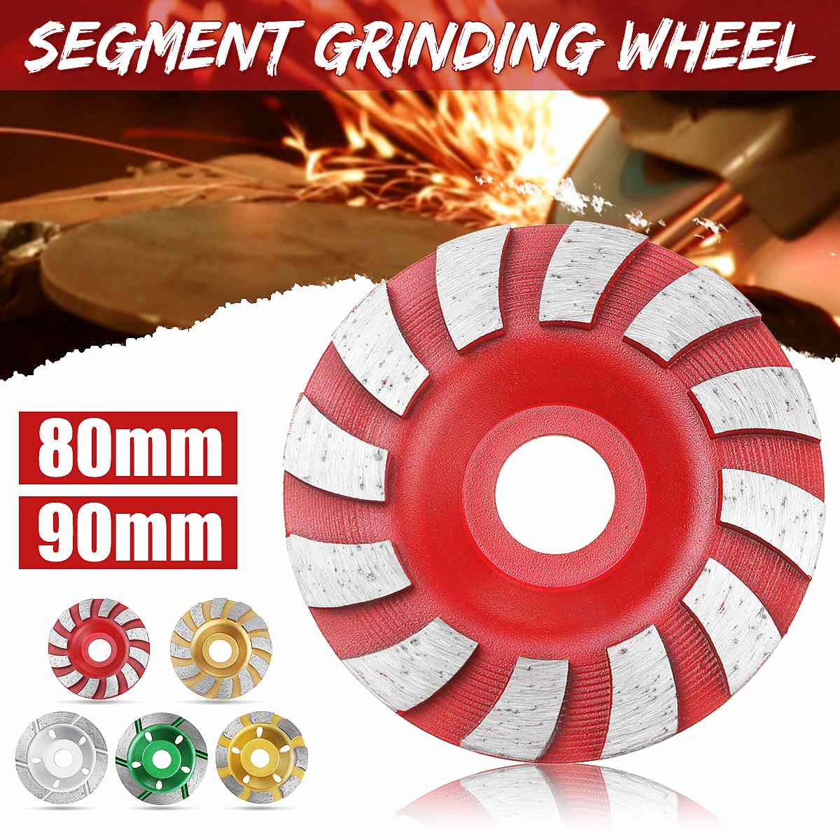 80mm/90mm disco de molienda de diamante herramientas abrasivas de hormigón rueda de molienda de piedra de granito de corte de sierra
