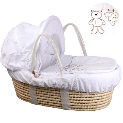 Corn Woven Baby Inner Foldable Crib Portable Infant with Mosquito Net Multifunctional Travel Carry-on Nest Cradle Basket Props