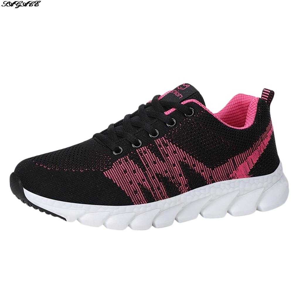 Amantes para Mulheres dos Homens Sapatos de Moda Nova Malha Respirável Tênis Voando Tecelagem Esportes Brancos Sapatos Casuais Estudante 2021 Luz
