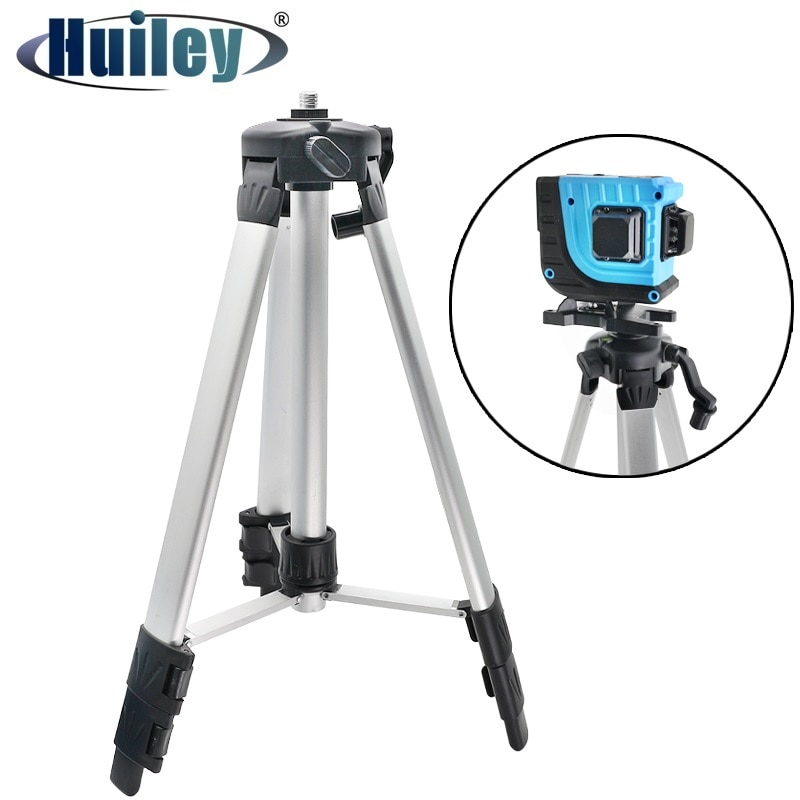 Tripod for Laser Level 1200mm Height Adjustable 5/8 inch Mounting Thread Steel Alloy Tripod Holder L