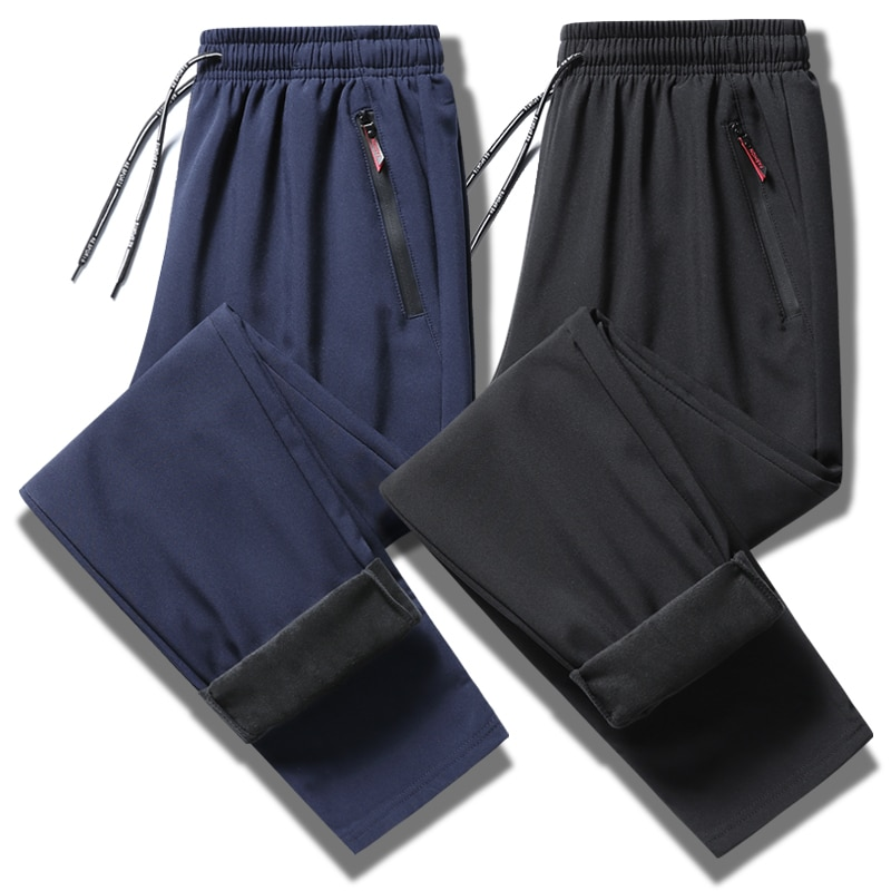 Спортивный костюм Мужской трикотажный для фитнеса, облегающие штаны на молнии, с карманами, тренировочные штаны для бега, хип-хоп