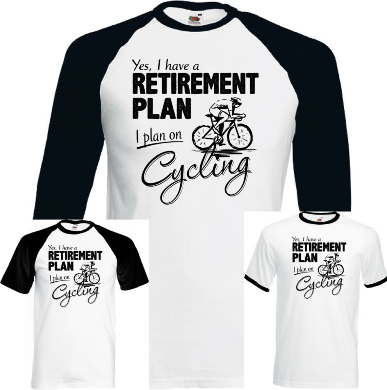 Bicycle pension plan Mens Funny Sweatshirt T-Shirt Road Racer Bike MTB
