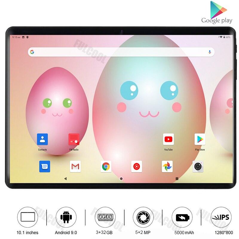 Novo quente 2.5d vidro temperado ultra magro 10 polegada tablet pc octa núcleo 3gb ram 32gb rom 5.0m câmera android 9.0 tablet 10.1 wifi gps