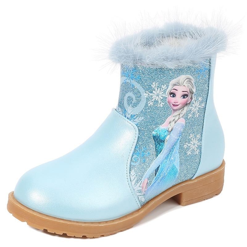 disney 2021 outono inverno novas criancas botas de neve lantejoulas e veludo meninas