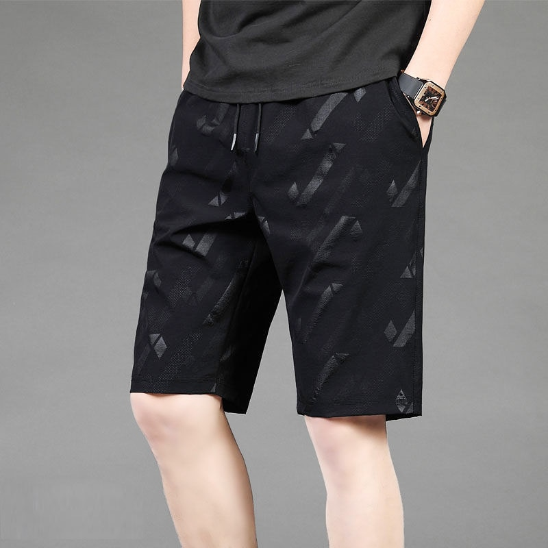 plus size 9xl 8xl 7xl 6xl 5xl shorts casual gym shorts mens solid color knee length pants thin breathable beach shorts loose Summer Shorts Men Thin Sports Quick-Drying Loose Large Size Casual Pants Breathable Slacks Beach Shorts 5XL-8XL