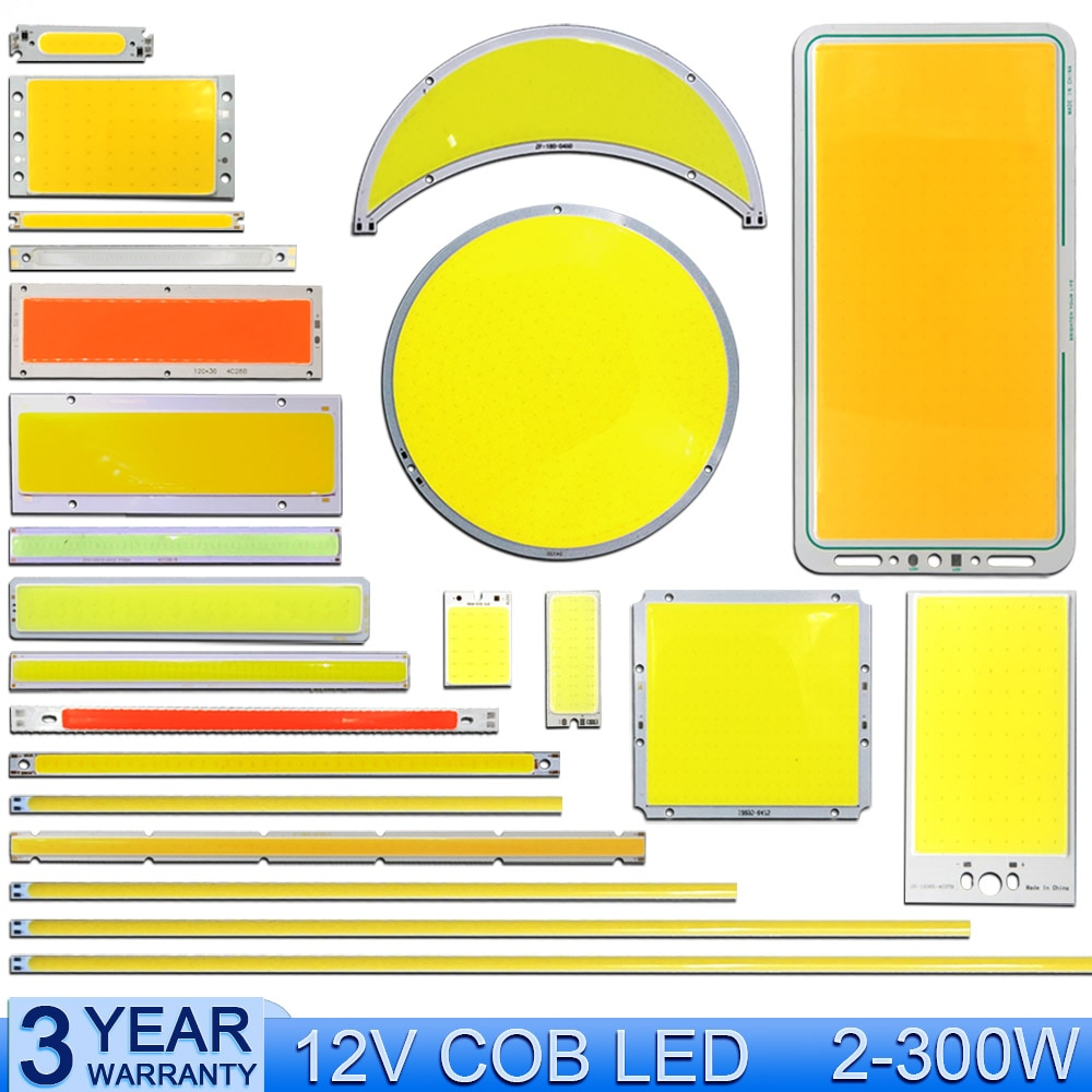 60x8mm 2v 3v led bulb cob strip 3 7v chip on board 60mm warm cold white blue red color 1w 3w led lighting for cob work lamps diy Wholesale 2-300W DC 12V LED COB Light Bulb Strip Panel Lamp Warm Cold White Blue Green Red Color Lighting DC12V LED Chip for DIY