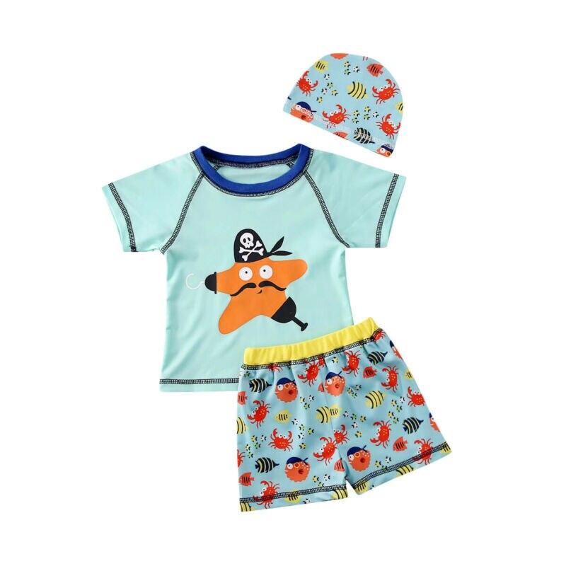 Wholesale Toddler Baby Boy Starfish Swimsuit Bathing Tankini Bikini Set Swimwear Beachwear