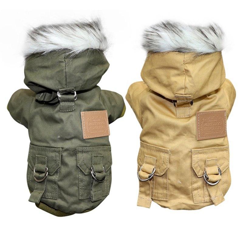 Roupas para cães de inverno para cães pequenos grandes cachorro quente cão de estimação casaco com capuz jaqueta velo chihuahua francês bulldog roupas macacão #