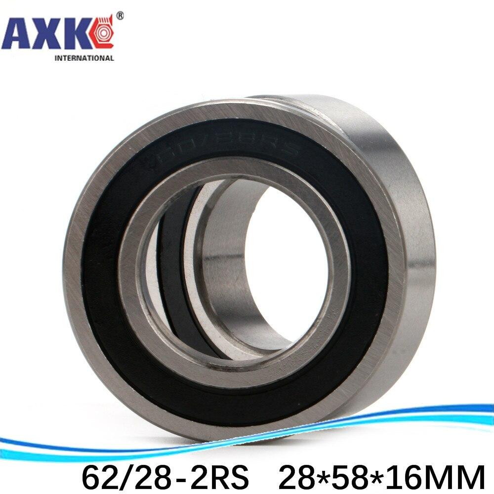 10pcs High quality  ABEC-3 Non-standard bearing 62/28 62/28-2RS 28*58*16 mm deep groove ball bearing