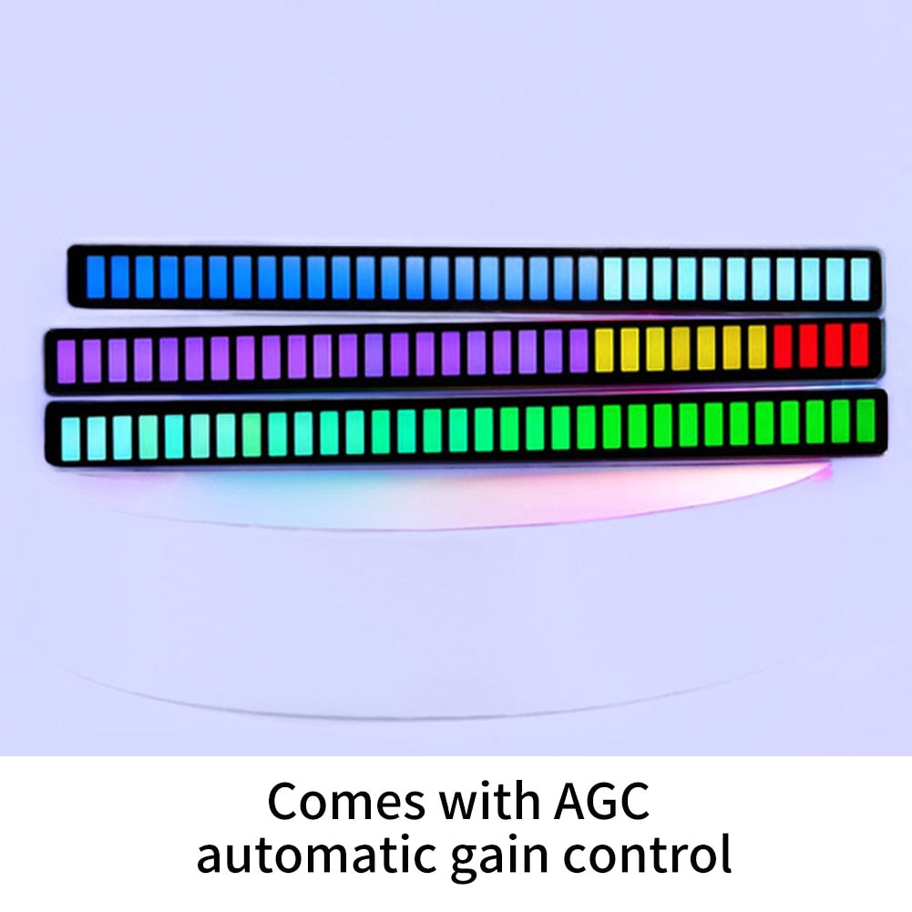 Pickup Rhythm Light USB LED Strip Light Sound Control Music Atmosphere Light RGB Colorful Tube Energy-Saving Lamp Ambient Light enlarge