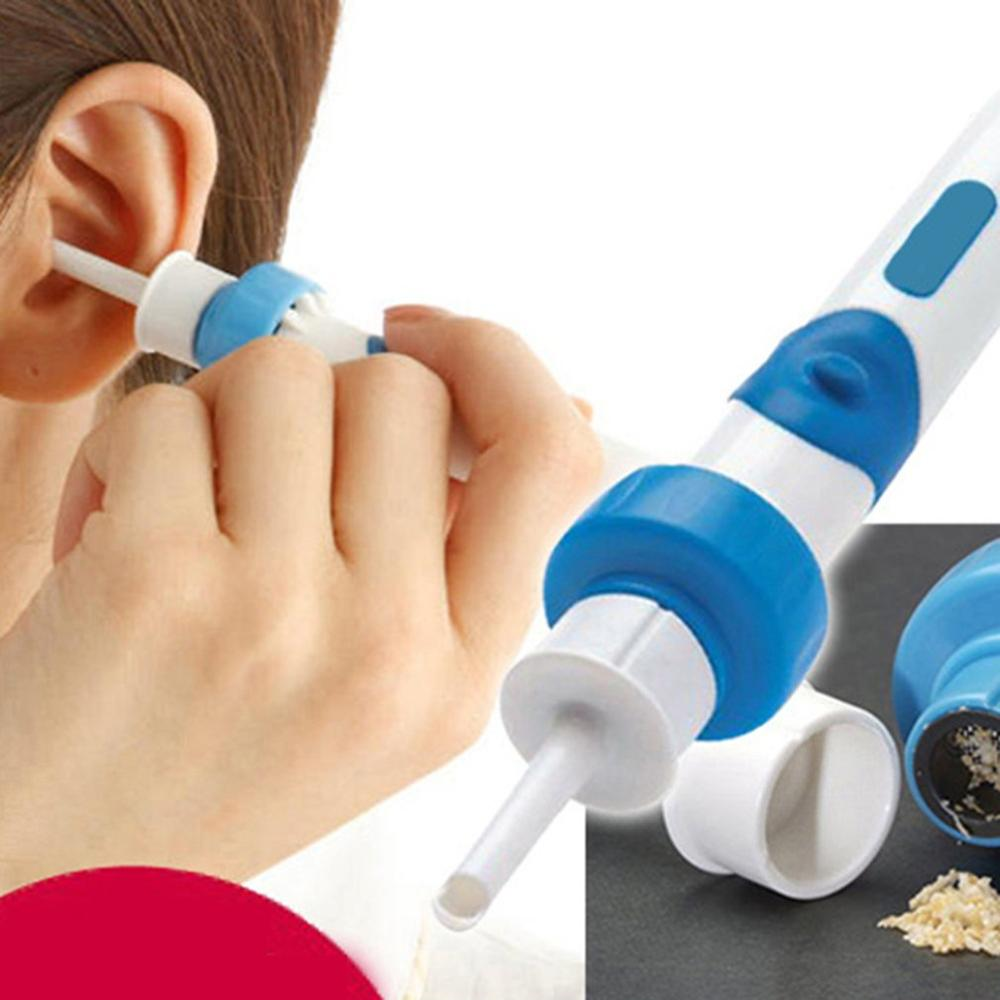 Limpiador de oídos eléctrico de seguridad, limpiador eléctrico de cera para los oídos, herramienta de limpieza indolora, práctico cuidado de los oídos 2020 más reciente