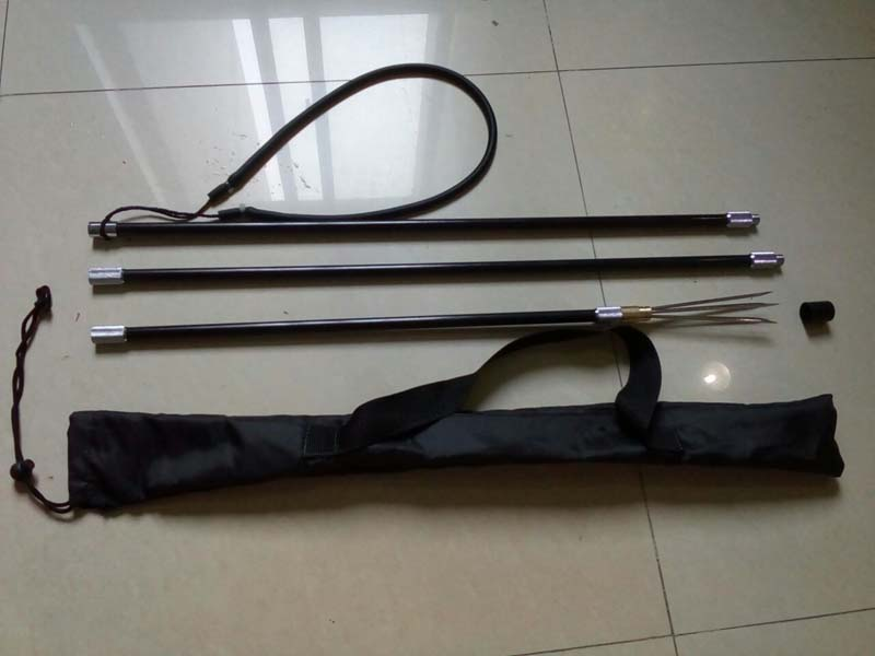 Hot Sale 2.2M poleSpear 3 in 1 Aluminium Straight Polyspear Spear fishing fork pole spear A-alloy pole spearfishing Accessories