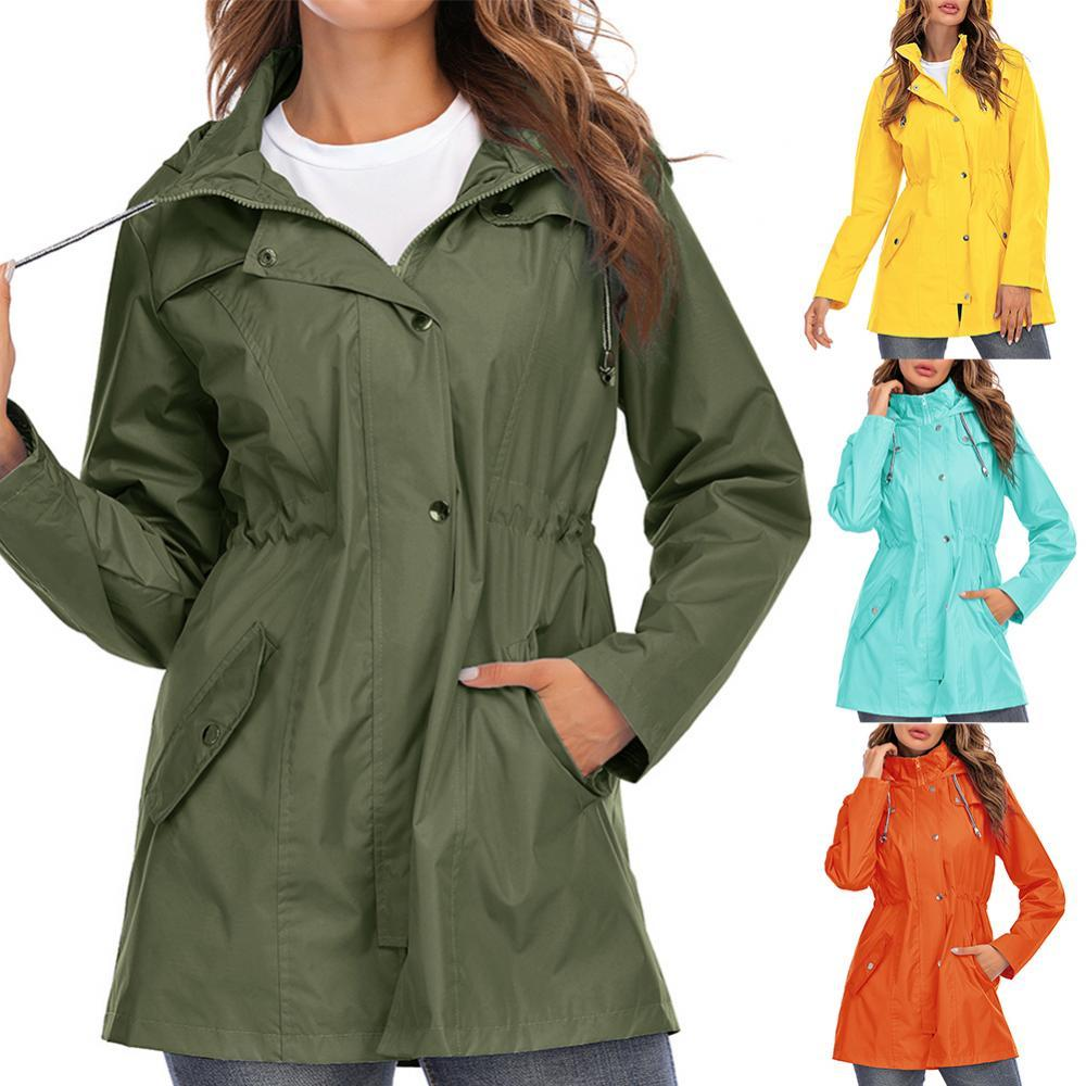 Женская непромокаемая куртка, модная быстросохнущая уличная Водонепроницаемая легкая толстовка, дождевик, ветровка для улицы