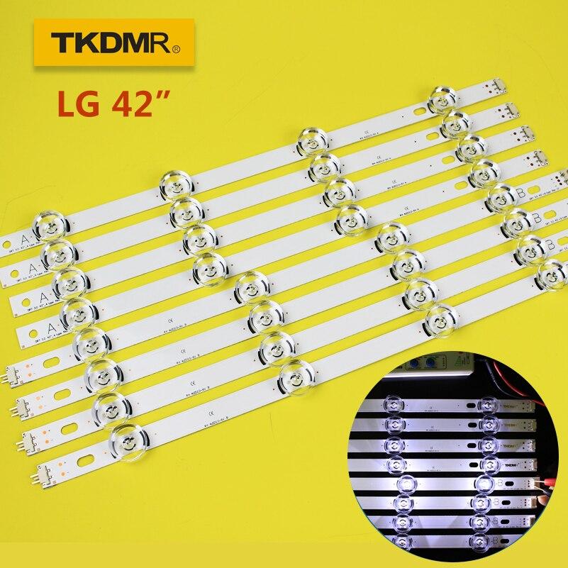 TKDMR LED شريط إضاءة خلفي 8 مصباح ل LG 42