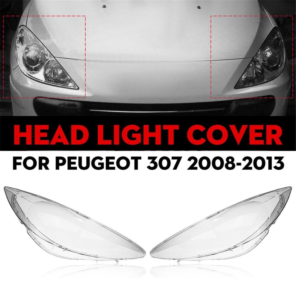 Автомобильный Крышка для линз передних фар, сменный корпус фары для Peugeot 307, 2008, 2009, 2010, 2011, 2012, 2013