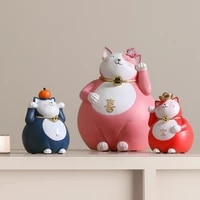 creative lucky cat porch ornaments living room office counter desktop crafts decoration opening gifts