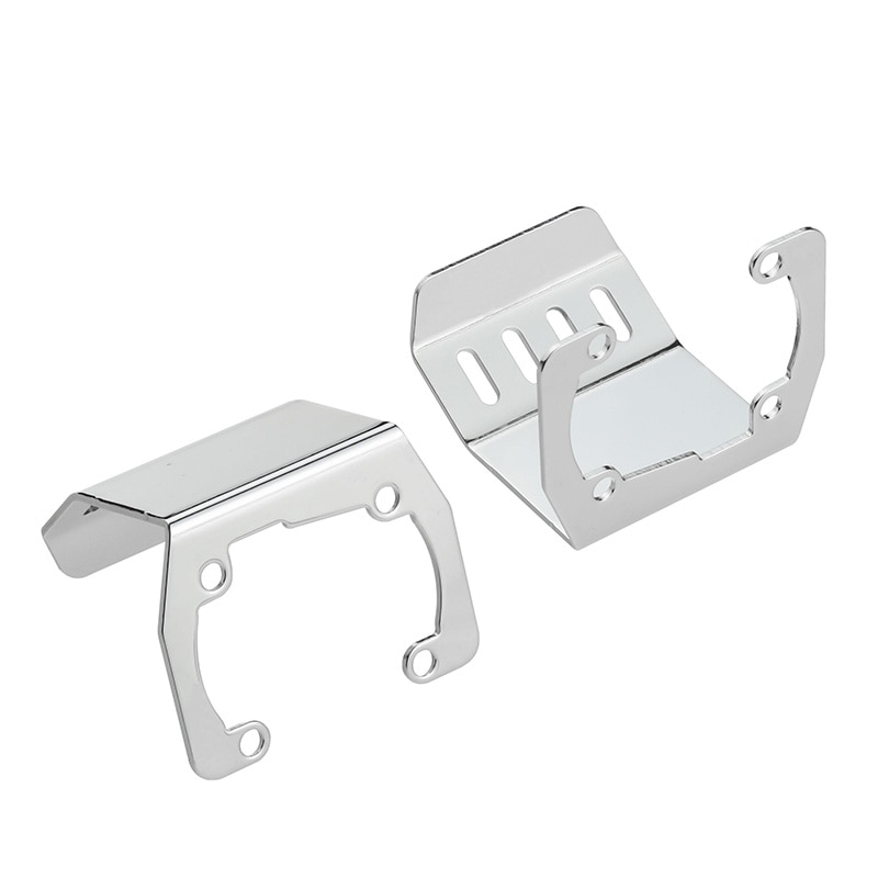 Stainless Steel Chassis Armor Protection Skid Plate for 1/10 RC Crawler Accessories Axial SCX10 II 90046/47 90059/60 F120BP ZXZ enlarge