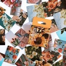 46Pcs/box Beautiful Flower Stickers Creative Ins Plant Scrapbooking Decoration DIY Sealing Stickers School Stationery