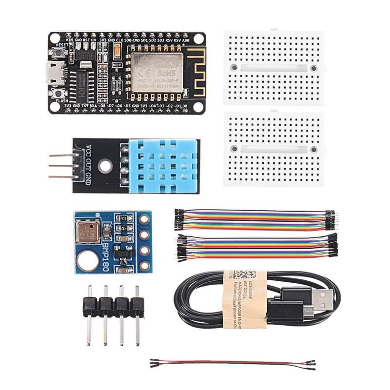 ESP8266 天気ステーションキット温度湿度 atmosphetic 圧力光センサー 0.96 ディスプレイ arduino の ide 用 iot