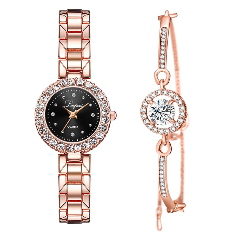 Watch Woman 2019 Women Watches Famous Luxury Brand Fashion Clock Quartz Ladies Wrist Watches For Women Wristwatches 2pcs Set