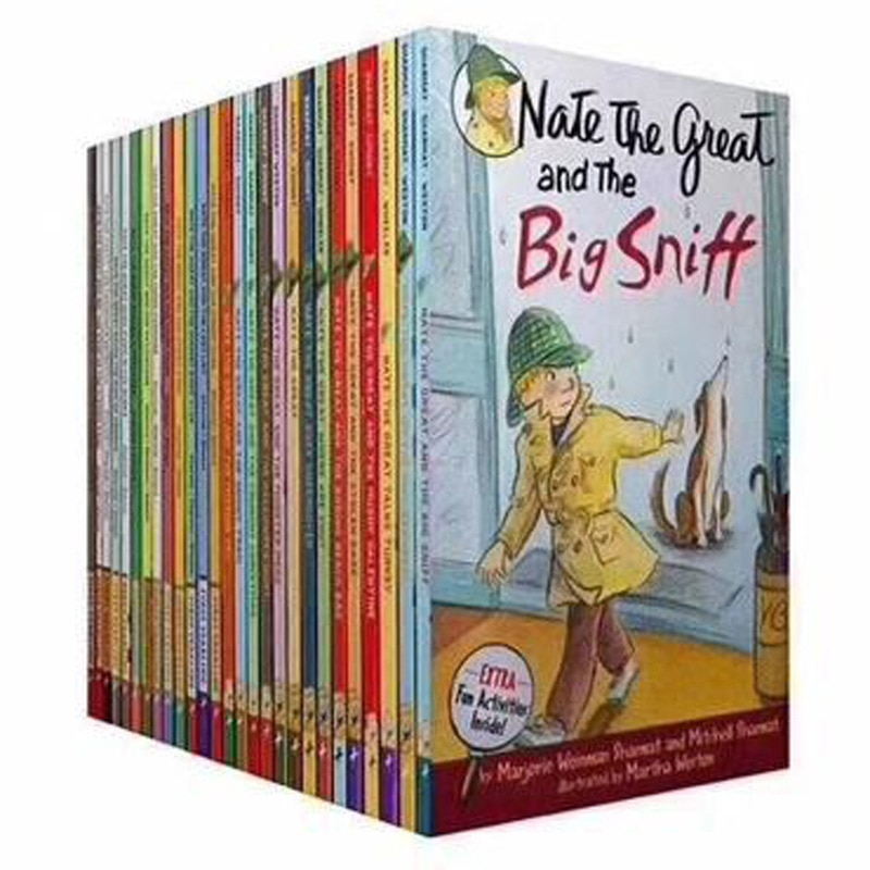 27 Books/Set Nate the Great English Reading Short Story HellLearning Case High School Life Detective Novels Fairy Tales Toy