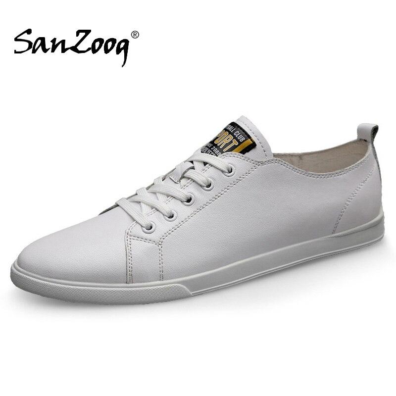 ربيع الخريف حقيقية أحذية رياضية من الجلد حذاء رجالي غير رسمي Chaussure أوم Cuir Zapatos دي hombre أحذية رجالي Cuero حذاء أبيض
