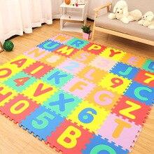 30*30cm Schaum Englisch Alphabet Anzahl Muster Spielen Matte Für Baby Kinder Puzzle Spielzeug Yoga Brief Krabbeln Matten teppich Teppich Spielzeug