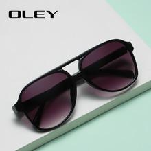 OLEY Brand Square Retro Gradient Polarized Sunglasses Women Men Carbon Fiber Pattern Design Outdoor