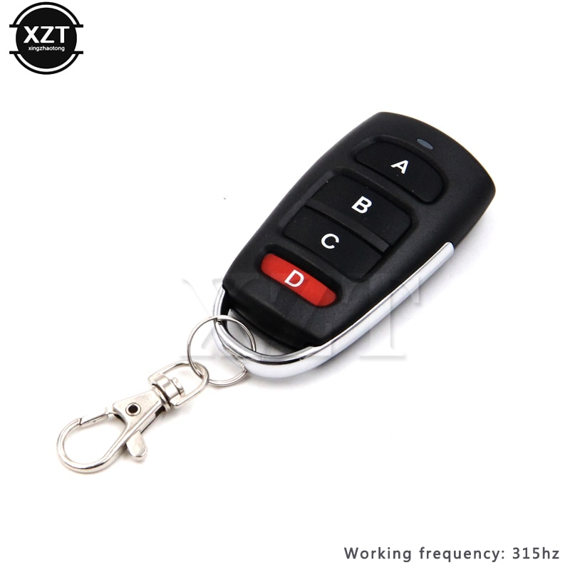 315mhz Garage Door Remote Control Universal 4 Button Clone Cloning Copy Electric Nice Car Garage Door Opener Duplicator Key Fob