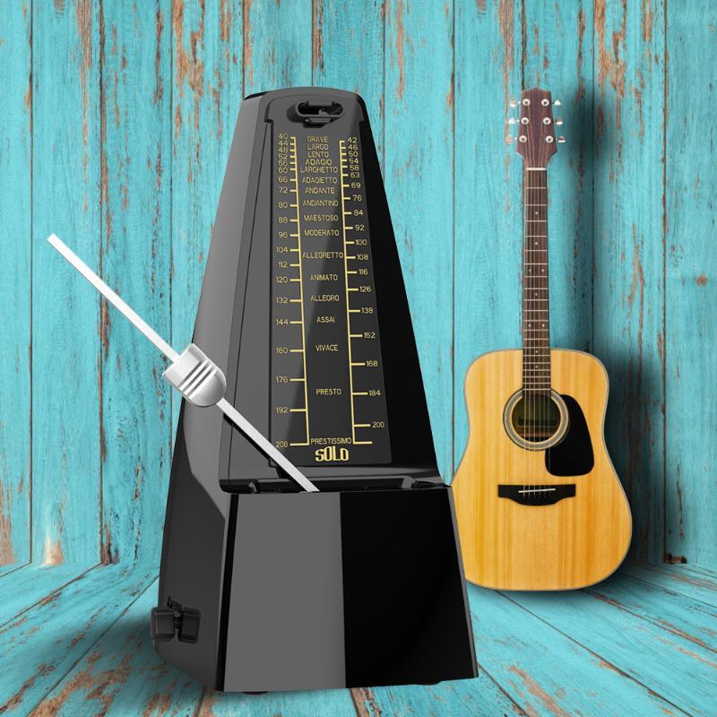 SOLO Vintage torre en forma de mecánico metrónomo péndulo ritmo metrónomo para guitarra bajo Piano violín partes Accesorios