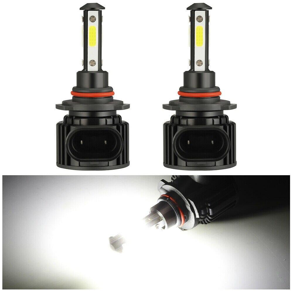 2 шт. F8 комплект автомобильных светодиодных фар высокий низкий луч света лампы для автомобильных фар лампы H7 H11 9005 9006 светодиодные лампы бело...