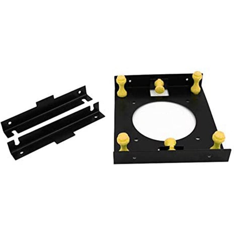3.5 Inch Hard Disk Shock Absorber Bracket with Mounting Screws for PC Case 3.5 HDD to 5.25 DVD ROM Bay Adapter