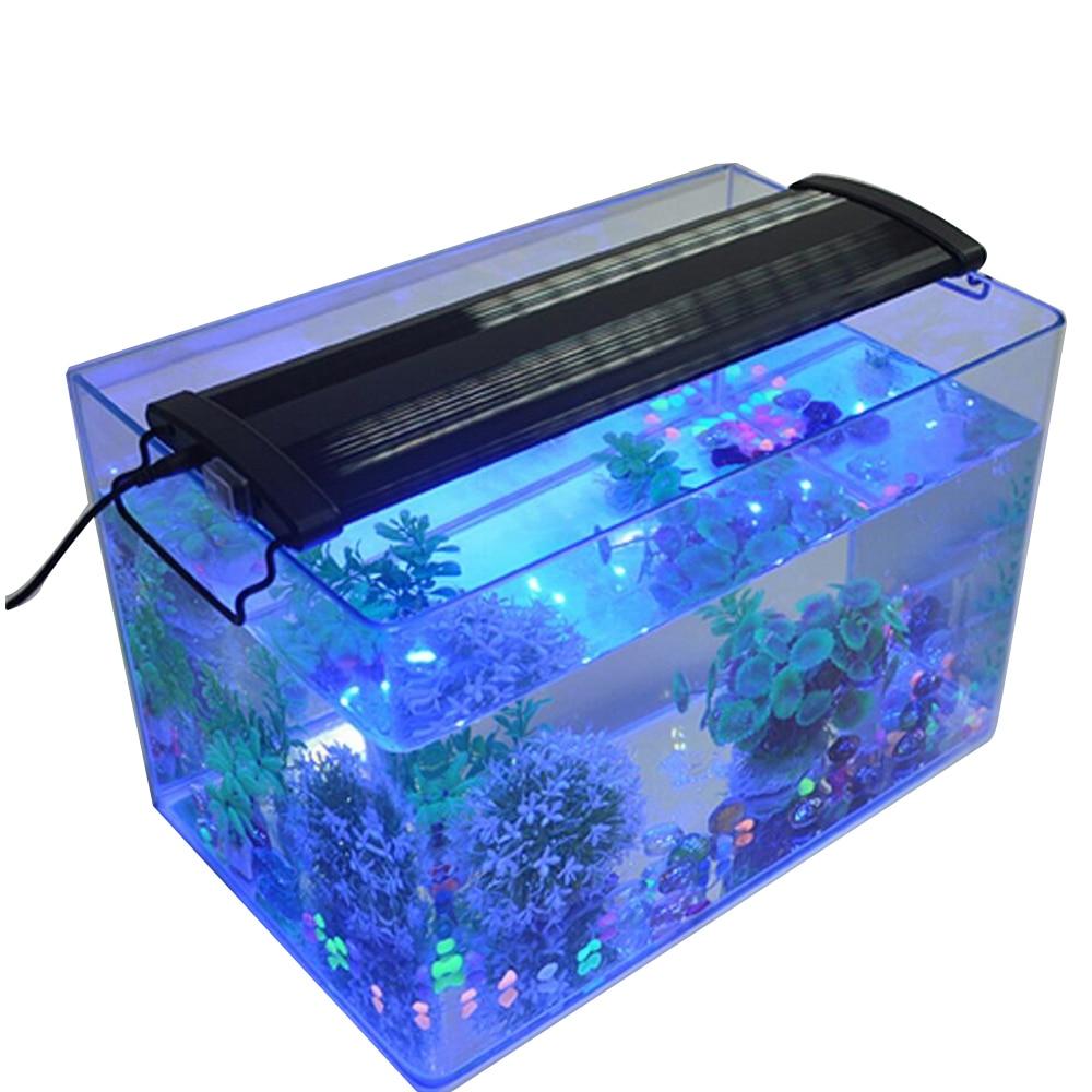 Fish Tank Bracket Light Aquarium LED Light High Quality 10-15cm Extensible Strap Lamps Full Spectrum Coral Aquatic Tank Light