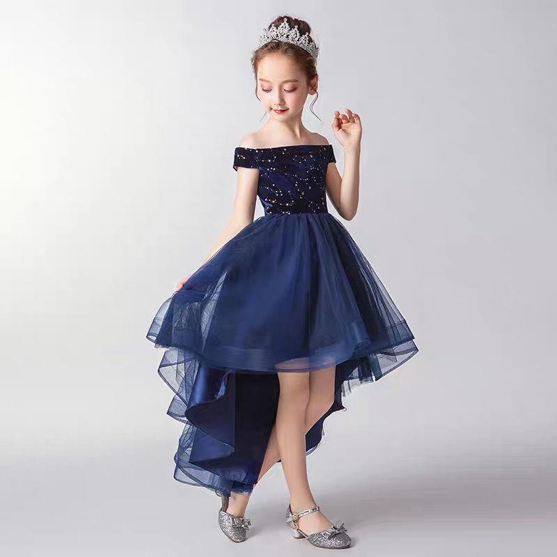 Cauda vestido de princesa para meninas 12 anos com decote em v sem mangas festa de aniversário vestido para crianças vestido de flor crianças roupas de natal