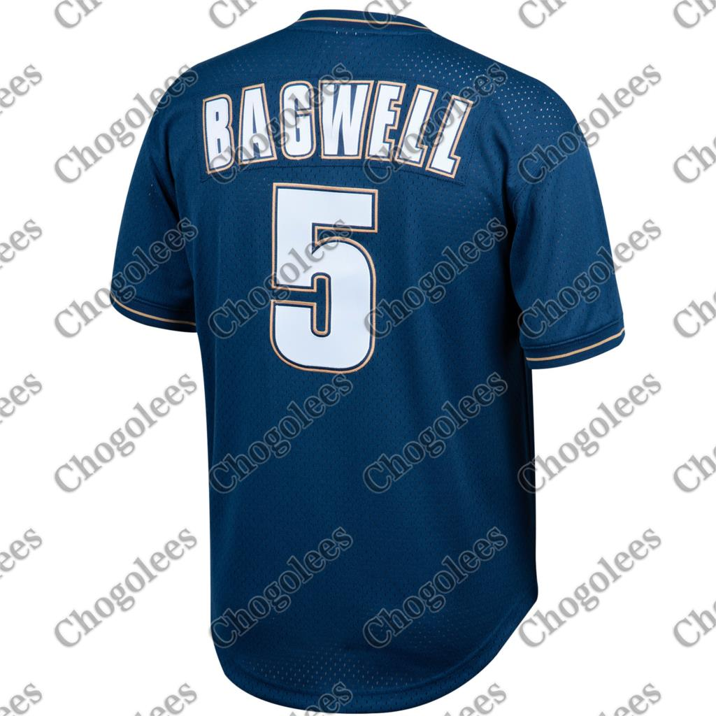 Baseball Jersey Jeff Bagwell Houston Mitchell & Ness Cooperstown Collection Big Tall Mesh Batting Practice - Navy