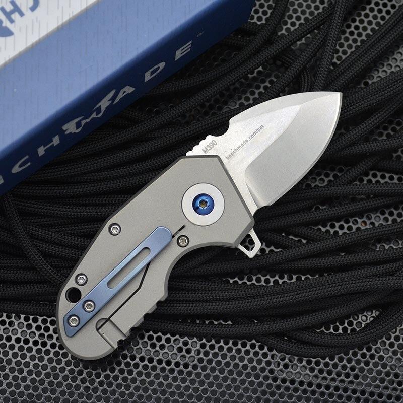 Benchmade 756 Mini Folding Knife High Quality Titanium Alloy M390 High Hardness Pocket Knives EDC Defenses Tool enlarge