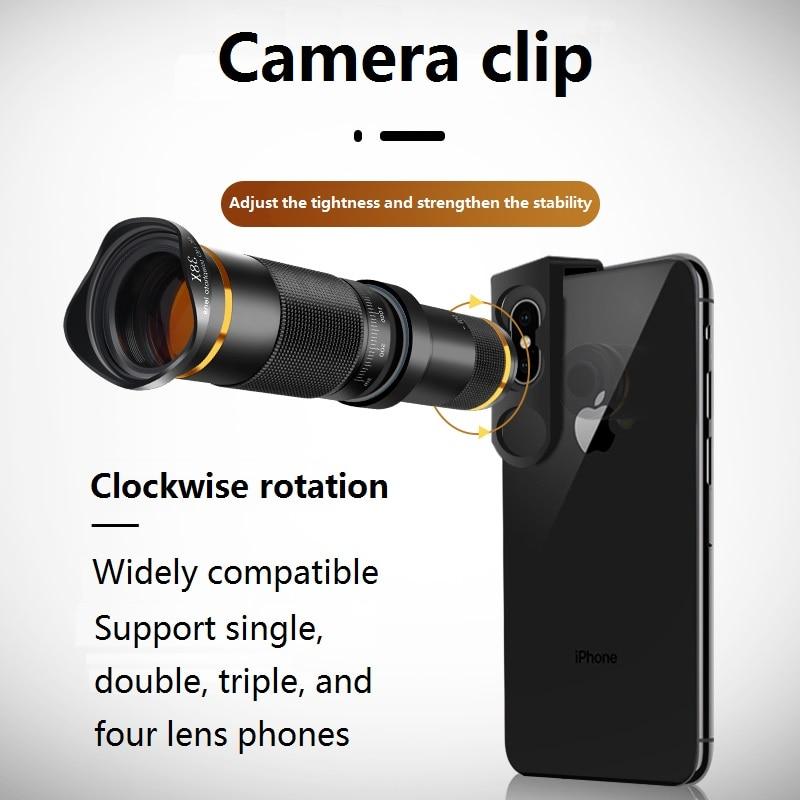 عدسة تليفوتوغرافي عالية الدقة 38X ، تلسكوب أحادي ، كاميرا لهاتف IPhone 11 Xs Max XR Samsung Android ، الهاتف الذكي